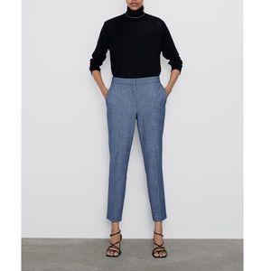 ZARA Pants With Elastic Waistband L